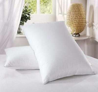 Luxury Duck Feather Pillows - Hotel Quality - Extra Filling - Firm Support - New • 12.95£