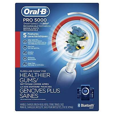 AU135.11 • Buy Brand New ORAL-B 5000 Rechargeable Electric Toothbrush, White