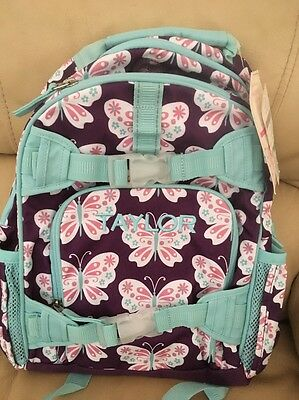 £23.59 • Buy New! Pottery Barn Mckenzie Backpack Size Small Monogram- TAYLOR