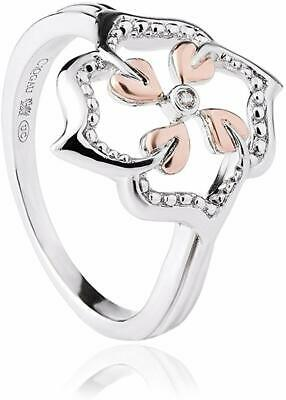 NEW Welsh Clogau Silver & Rose Gold Tree Of Life Flower Ring £70 Off! Size N • 39£