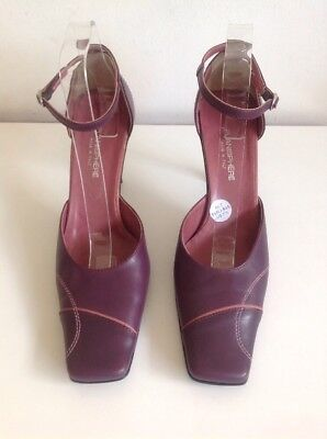£8.99 • Buy Planisphere Purple Magenta Ankle Strap Square Toe Shoes Size 7 Heels 4
