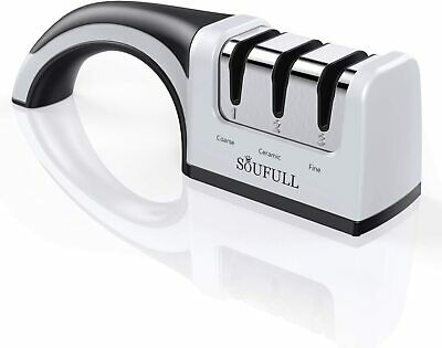 $8 • Buy Professional Knife Sharpener- Soufull 2 Stage Diamond Coated Sharpening