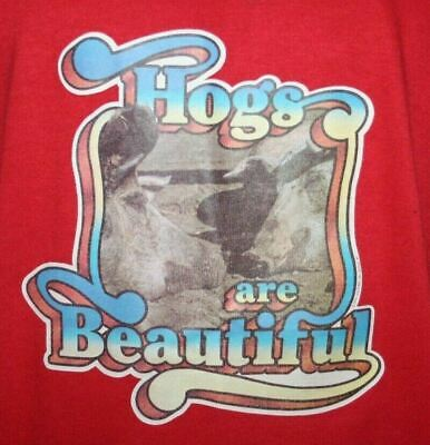 $ CDN109.17 • Buy Vintage 70s HOGS ARE BEAUTIFUL 50/50 Stedman Sport T-SHIRT Harley Davidson Biker