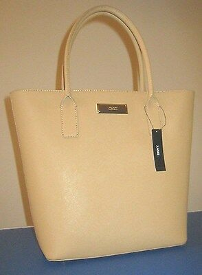 £97.34 • Buy DKNY Donna Karan Tote Hand Bag Purse Tan Saffiano Leather New With Tag $295