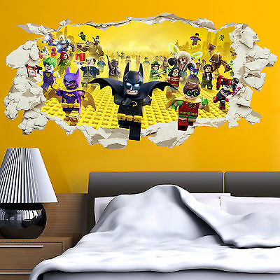 LEGO Batman Superhero In Wall Crack Kids Boy Bedroom Decal Art Sticker Gift XXL • 15.99£