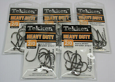 AU19.99 • Buy Tekken HEAVY DUTY Fishing Hooks X5 Packs, Size #2/0 Chemically Sharpened BKK