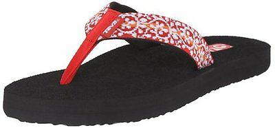 f14cc2723 Womens Teva Mush Ii 2 Companera Red Black Flip Flops Sandals   New   Size 11