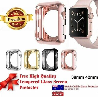 AU7.91 • Buy Full 360*Cover Case Apple Watch Series 3,2 1 38mm 42mm +Tempered Glass Protector