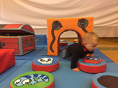 £1495 • Buy  PIRATE 12 Mat Set Soft Play Multy Activity Tunnels  Steps Logs Balance Chest