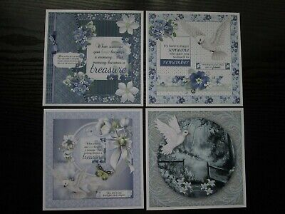 £2.25 • Buy 4 X Assorted Deepest Sympathy/ Bereavement  Hand Made Card Toppers  Set 3