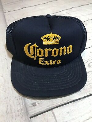 a6642770b456e Vintage Corona Extra Trucker Snapback Hat Adult One Size Fits All 80s Blue  Vtg • 19.96