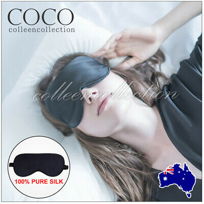 AU5.99 • Buy Soft Silk Sleeping Eye Mask Blindfold Lights Out Office Home Travel Relax Sleep