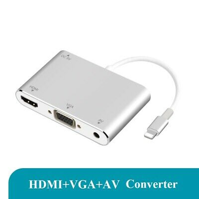 $ CDN26.59 • Buy IPhone To HDMI-compatible +VGA Adapter Cable Phone Connection HD TV Projector