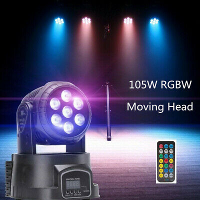 £50.99 • Buy 105W Moving Head Stage  Light  RGBW LED Beam Mixing Color DMX512 Party KTV Disco