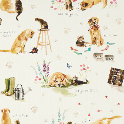 Clarke And Clarke Best Of Friends Dog PVC WIPE CLEAN Tablecloth Oilcloth • 6.99£