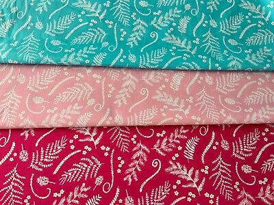 Hawaiian Vibrant Cotton Fabric Blue Pink Quilting Fabric Upholstery Quilt Fabric • 5.52£