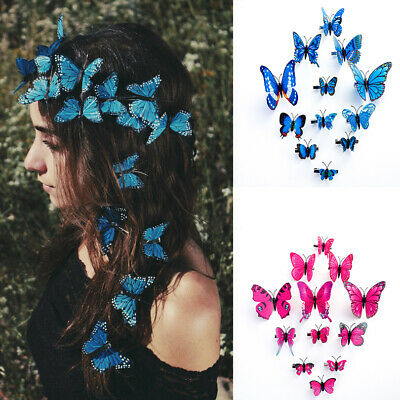 $ CDN5.03 • Buy 12PCS Butterfly Hair Clips Pins Bridal Hair Accessories Wedding Photography