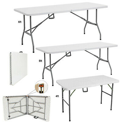 £39.99 • Buy Catering Camping Heavy Duty Folding Trestle Table Picnic BBQ Party 4ft 5ft & 6ft
