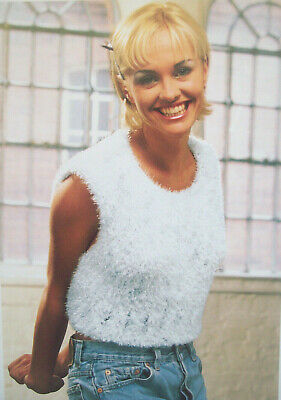 Ladies Sleeveless Vest Crop Top KNITTING PATTERN Chunky Mohair 30 - 40in 2037 • 1.99£