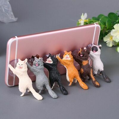 $0.99 • Buy Universal Cute Cat Cell Phone Holder Tablets Desk Car Stand Mount Sucker Bracket