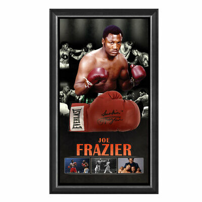 AU995 • Buy Joe Frazier Hand Signed Framed Everlast Boxing Glove Foreman Ali Tyson Liston