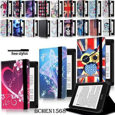 Leather Stand Cover Case For Amazon Kindle 4/5/7/8/9 Paperwhite 1/2/3/4 + Stylus • 4.99£