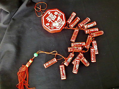 ARTIFICIAL CHINESE 58cm FIRECRACKERS WEDDING BIRTHDAY SHOP PARTY FIRE CRACKERS • 6.95£