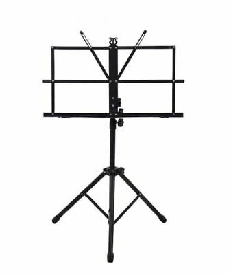 £7.49 • Buy Metal Music Stand Adjustable Folding Book Sheet Holder With Carry Case Bag