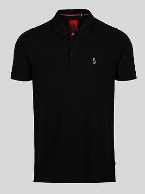 Luke 1977 Mens Classic Williams Short Sleeve Button Collared Polo Shirt Top • 28£