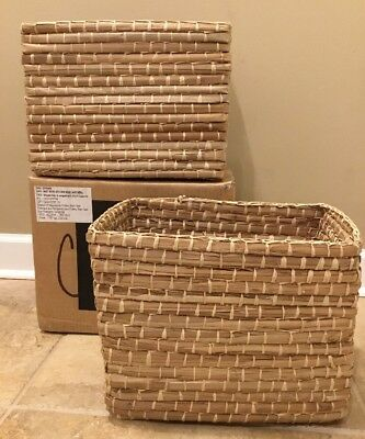 $47.99 • Buy NEW 2PC Pottery Barn Teen Woven MEDIUM Storage Bin Basket NATURAL