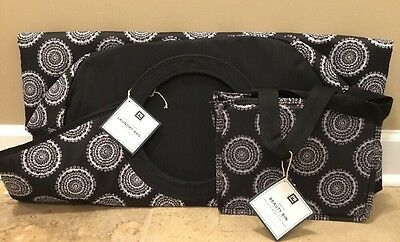 $55.99 • Buy NEW 2PC Pottery Barn Teen Easy Laundry + Bath Beauty Bin Bag BLACK MEDALLION