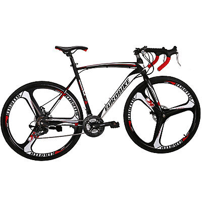 View Details Eurobike XC550 Road Bike 21 Speed Disc Brakes Mens Bicycle 700C Wheels 54cm • 302.68£