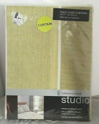 CATHERINE LANSFIELD CENTURY SPOT AND STRIPE CURTAINS TAB TOP 66x72 /168x183cm • 23.99£