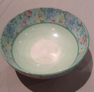Shelley Melody Bone China Chintz Art Deco Floral Large Bowl Dish Vintage Flowers • 65£