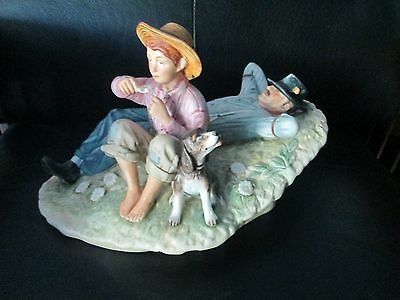 $ CDN53.32 • Buy Norman Rockwell Gorham Bone China Father Son Day Nap Dreamers Spring Figurine