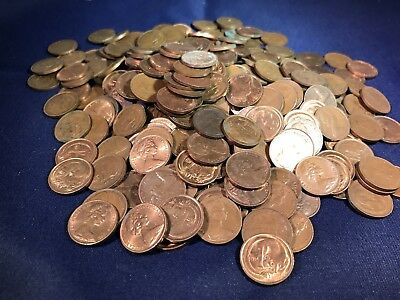 AU15.95 • Buy Australian 1 & 2 Cent Piece 225 Grams Bulk Coin Lot. Not Checked For 1968 Or SD.
