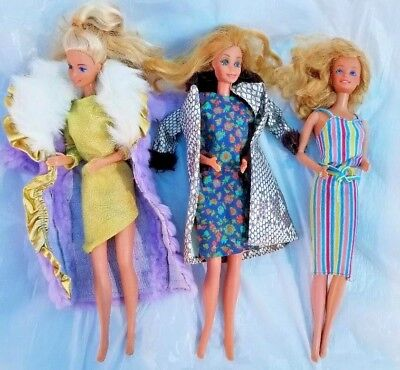 $ CDN63.64 • Buy Vintage BARBIE Dolls 1966 Philippines Taiwan & Malaysia Lot Of 3 With Clothes