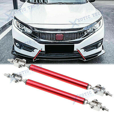 $19.58 • Buy Red Adjust Front Bumper Lip Splitter Strut Rod Tie Support Bars For Honda 8 -11