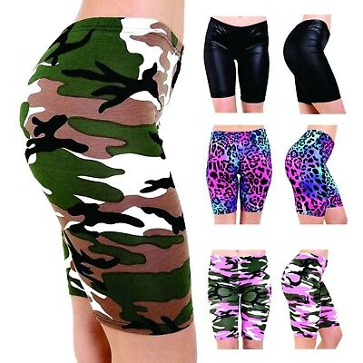 £5.39 • Buy Women Ladies Printed Stretchy Gym Bike Cycling Tight Hot Pants Shorts Plus Size