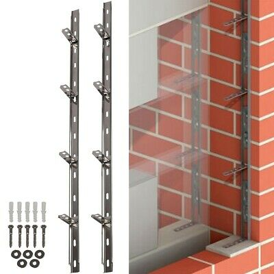 STAINLESS STEEL WALL STARTER KIT Brick Block Extension Interior Exterior Tie In • 12.60£
