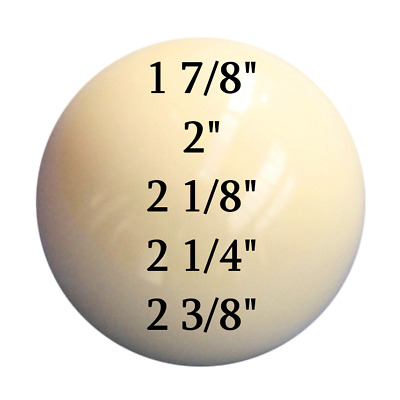 £7.99 • Buy Pool Snooker Billiards White Cue Ball ALL SIZES 1 7/8  2  2 1/8  2 1/4  2 3/8