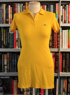 Lacoste Polo Dress Size:14  Color: Yellow  Davanlay Small Kids Size • 31.92£