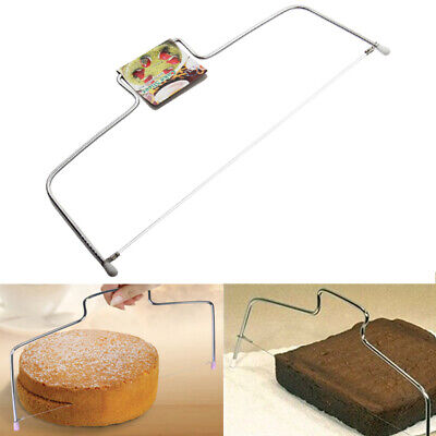 £3.99 • Buy UK Adjustable Wire Cake Slicer Cutter Leveller Decorating Bread Wire Decor Tool