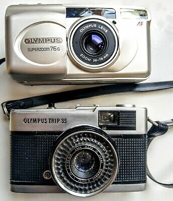 Olympus Trip Vintage Pair Of Cameras (2) Old Photo Photography History Rare  • 89.95£