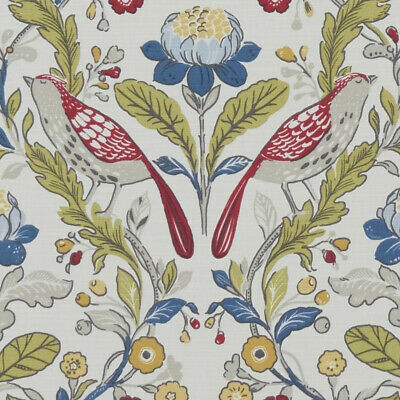 £10.95 • Buy Clarke And Clarke Orchard Birds Rouge Designer Curtain Upholstery Craft Fabric