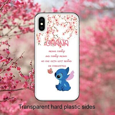 Disney Lilo And Stitch Quote Ohana Case Cover For IPhone Samsung Huawei Google • 4.99£