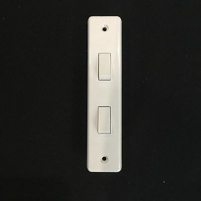 £3.99 • Buy Crabtree 2 Gang 2way Architrave Light Switch 5amp