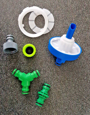 Motorhome Caravan Boat Water Filler Cap Kit, Hose Inlet Complete With Adapters • 18.99£