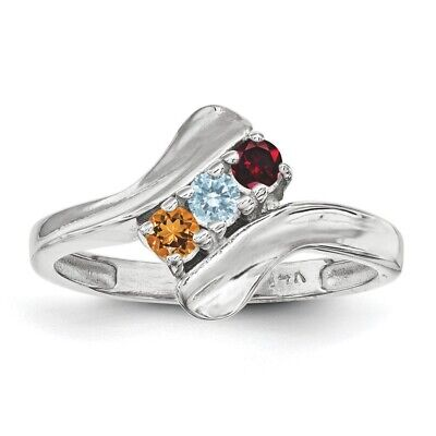$75 • Buy Birthstone Custom Ring 1- 5 Stones Sterling Silver, Mothers Day Jewelry Rings