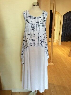 £54 • Buy Eden Rock Dress Size XS BNWT Blue And White Linen RRP £120 Now £54